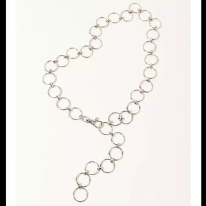 Urban outfitters silver circle chain belt -size S